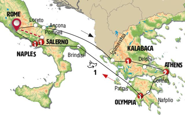 Greece and South of Italy with Sorrento